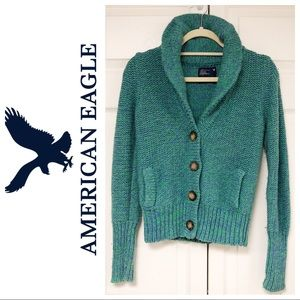 AMERICAN EAGLE CHUNKY WOOL BLEND SWEATER